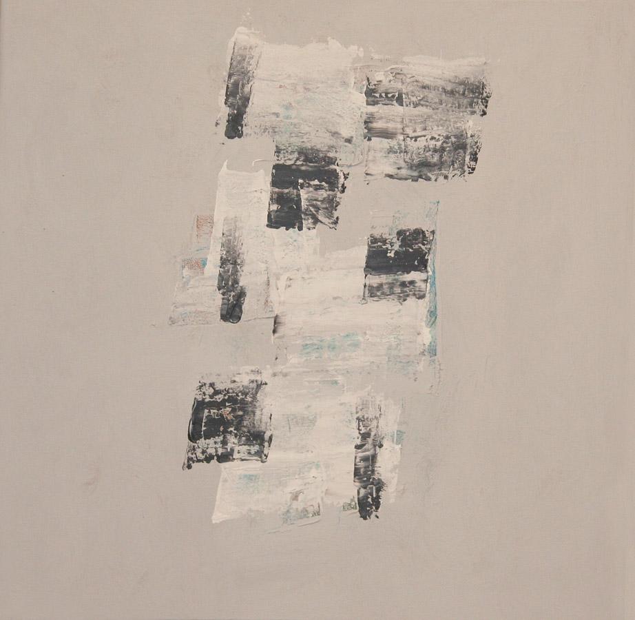 Blue Kaftan, ´08 Acryl op linnenpapier-50x50cm
