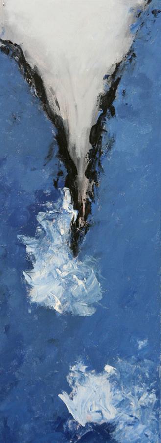Blue Trio 1 07 acryl op doek 30 x 80 cm