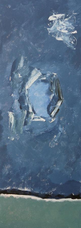Blue Trio 2 07 acryl op doek 30x80 cm