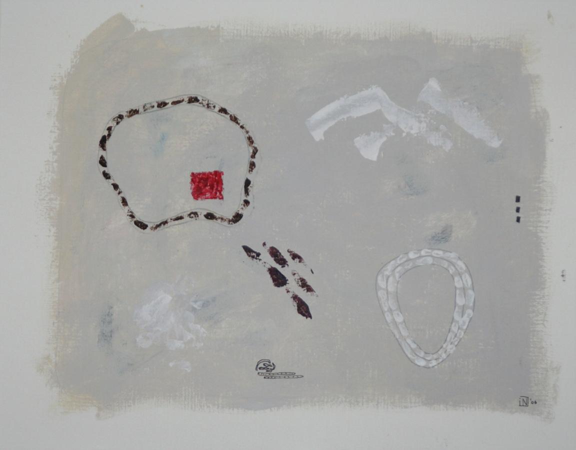 Caprices 4 07 Acryl op linnenpapier 43x53cm
