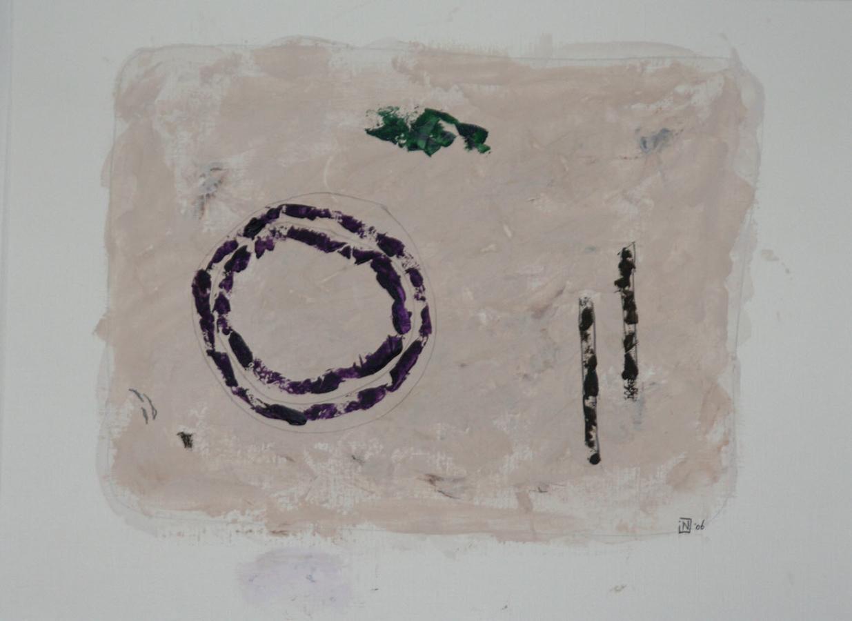 Caprices 5 07 Acryl op linnenpapier 40x53cm