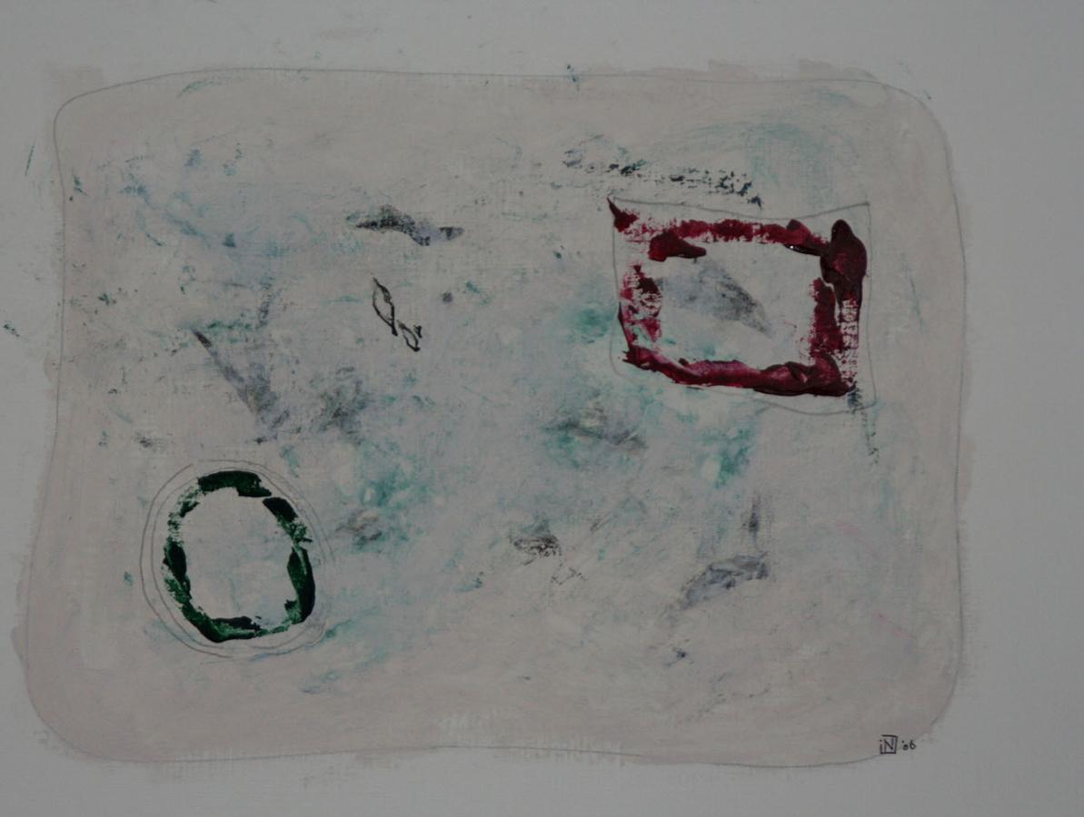 Caprices 6 07 Acryl op linnenpapier 43x53cm