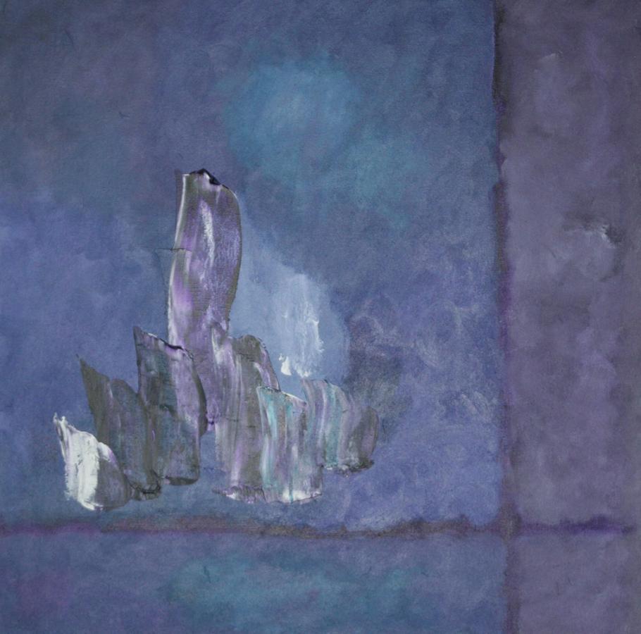 Deep purple 07 acryl op doek 50x50cm