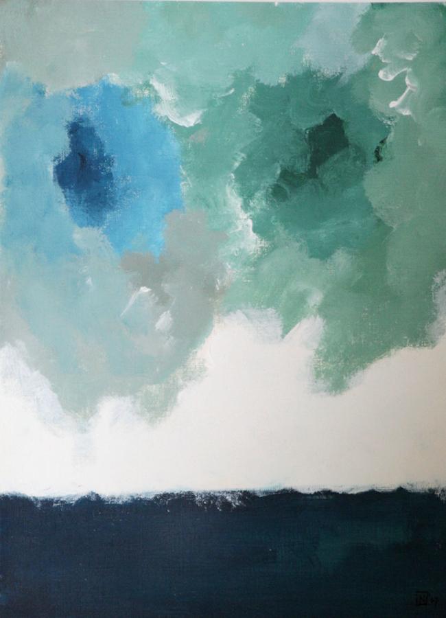 Dreamin 07 Acryl op linnenpapier 33x43cm