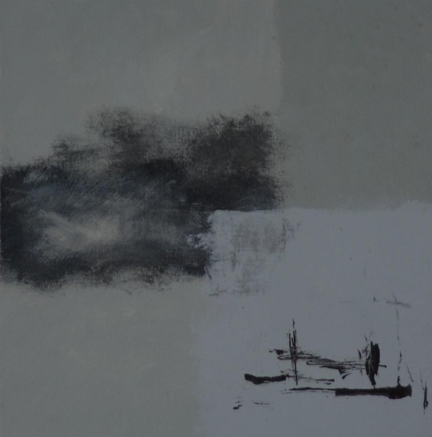 Grey 08 Gemengdetechniek op linnenpapier