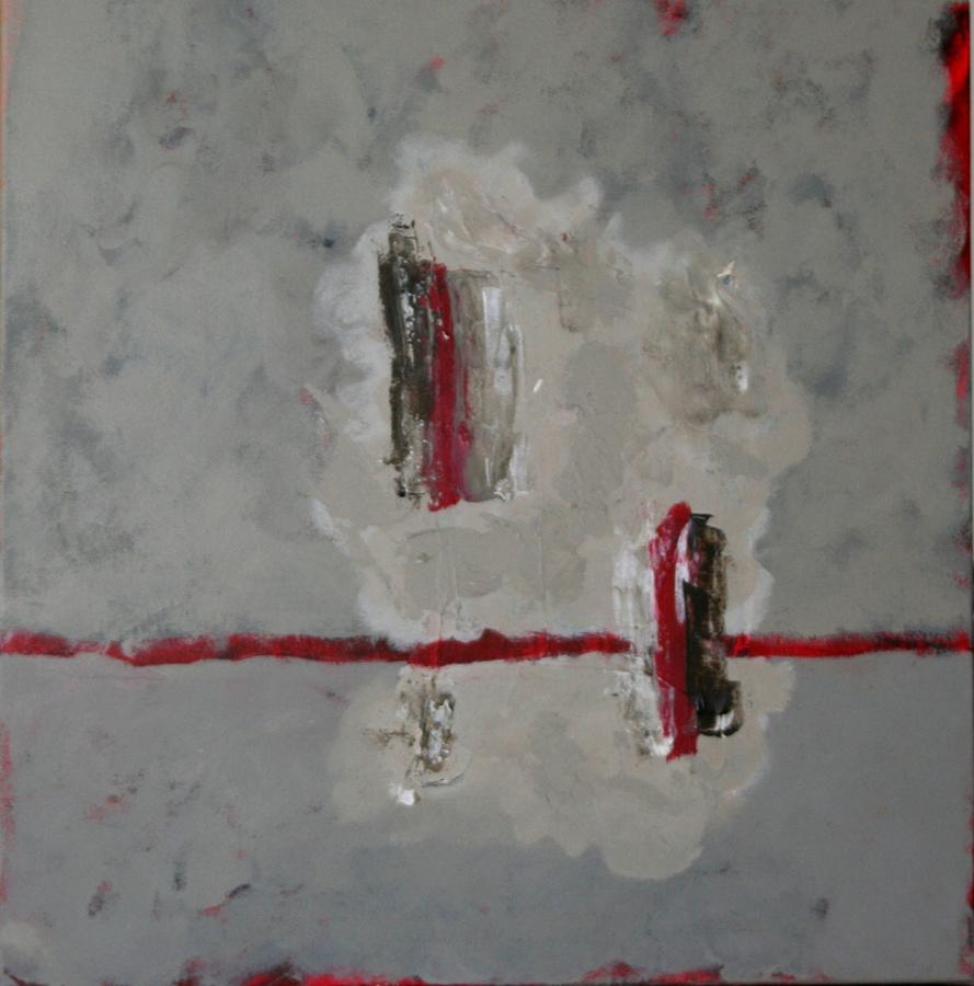 Incognito 07 acryl op doek 50x50 cm