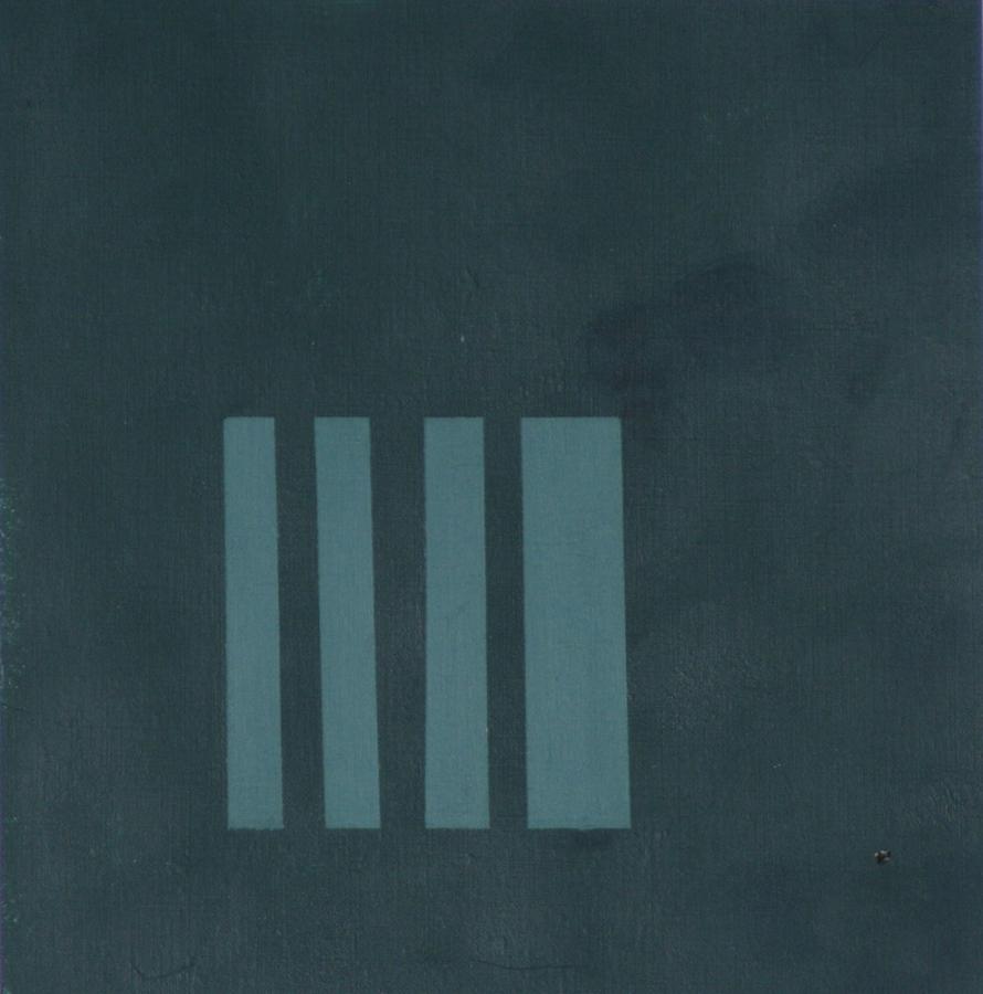 La Comparsita 09 Acryl op linnenpapier 50x50cm incl lijst Galerie-Nikko-Rotterdam