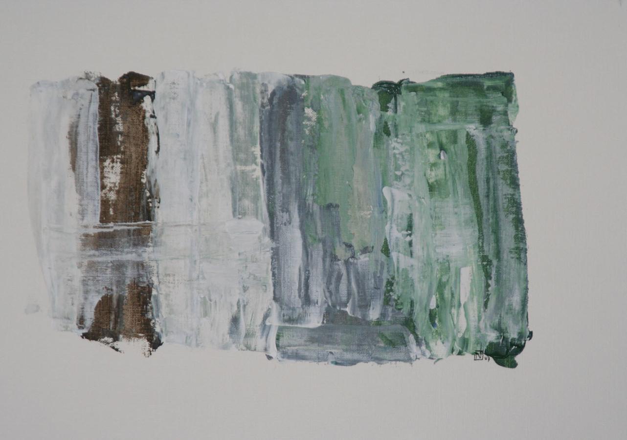 La force des choses 10 Acryl op linnenpapier 33x43cm