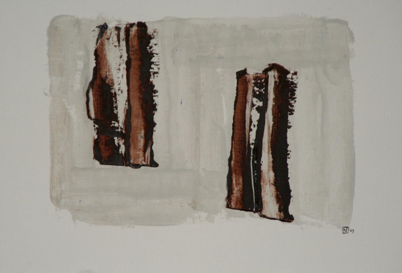 La force des choses 14 Acryl op linnenpapier 33x43cm