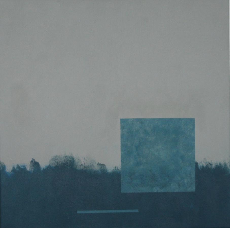 Landschap met mokkakop 08 Acryl op doek-50x50cm