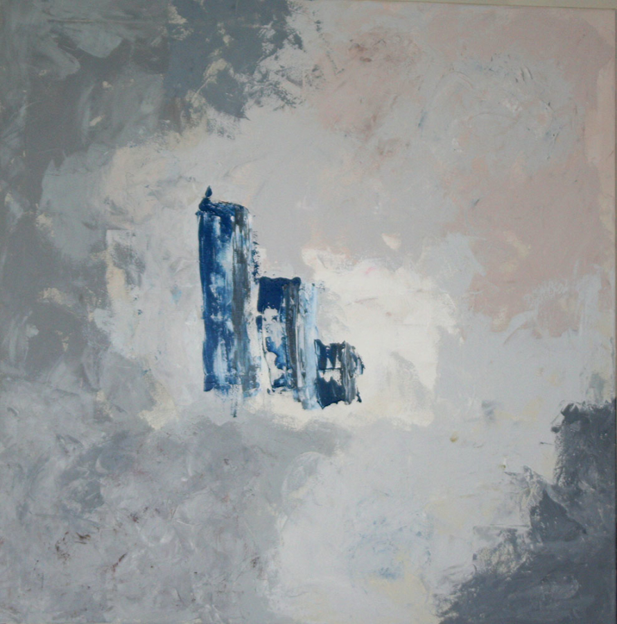 Misty 2006 acryl op doek 80x80 cm
