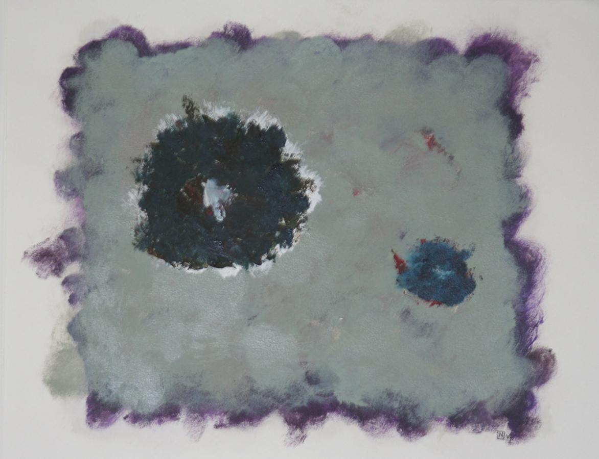 Nevel 2 Acryl op linnenpapier 43x53cm
