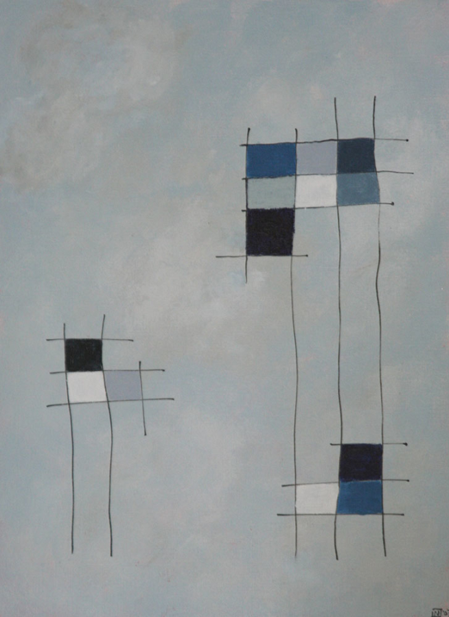 Quadri colorati Acryl op linnenpapier 33x43cm