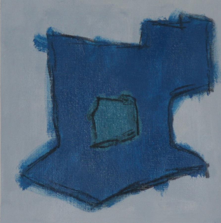 Quateride 09 Acryl op linnenpapier 53x53cm incl lijst