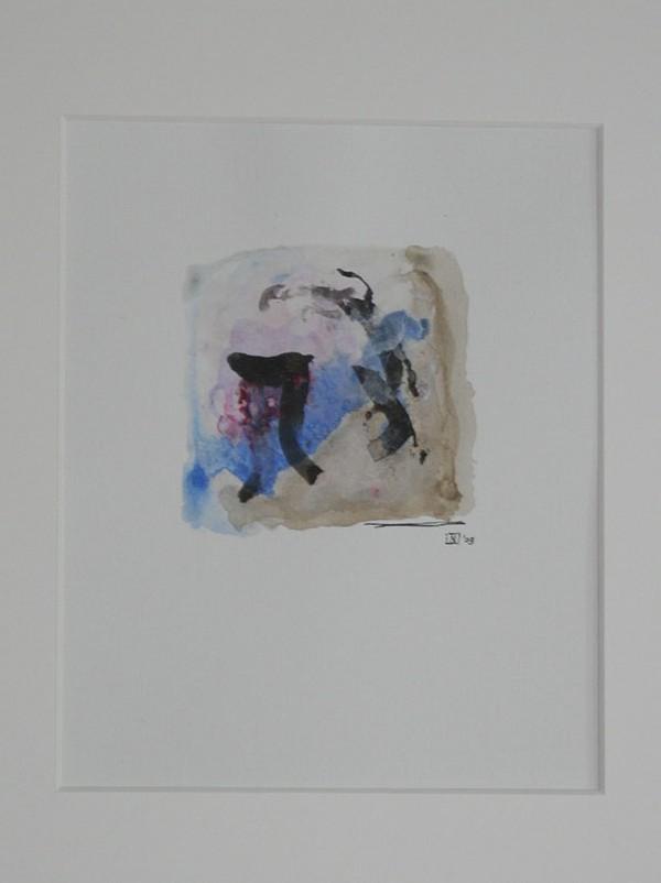 Sho Kamiti Gemengde techniek op linnenpapier 33x43cm incl-lijst