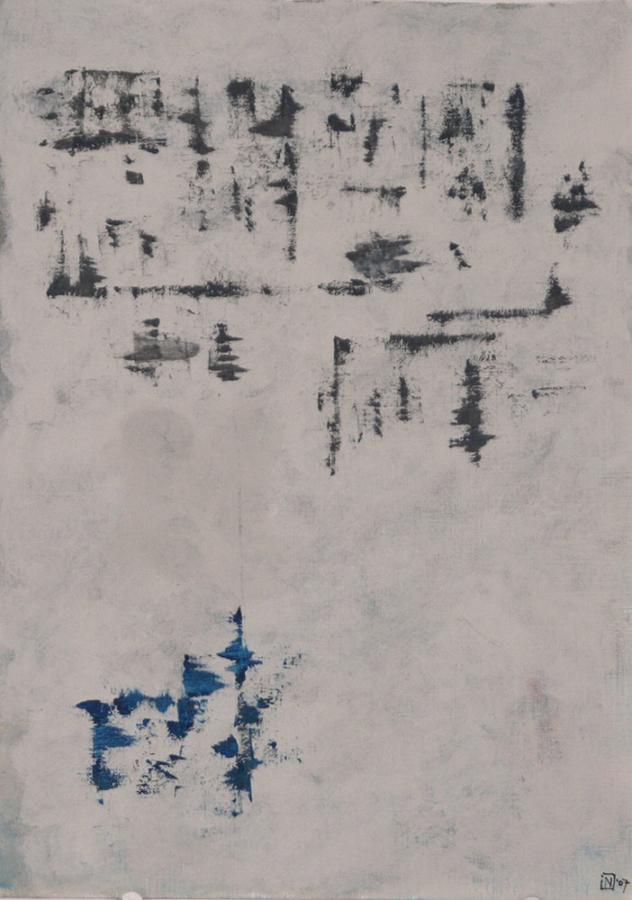 Stricce 07 Acryl op linnenpapier 33x43cm