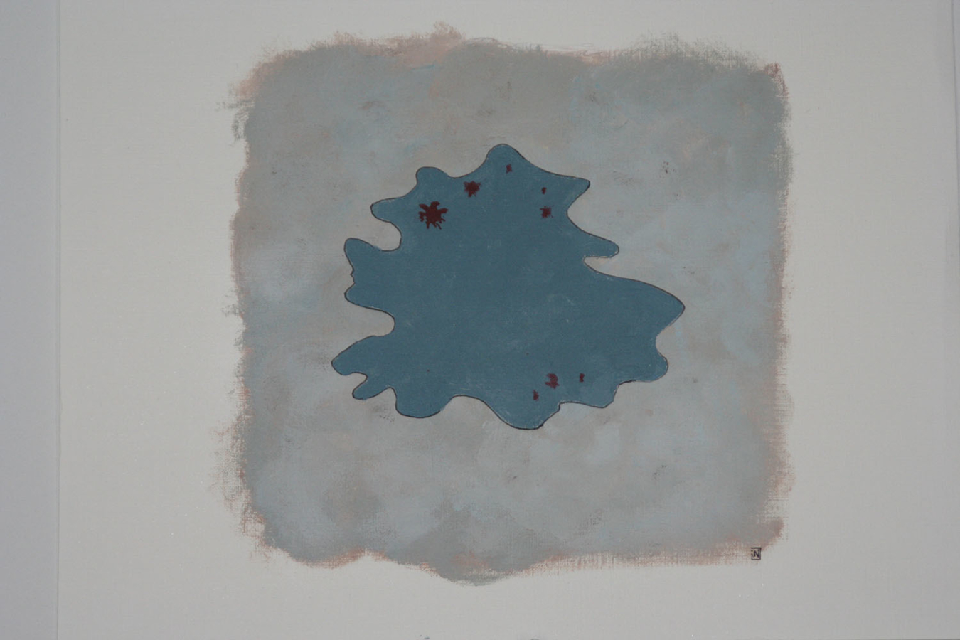 Trace 1 07 Acryl op linnenpapier 53x43cm