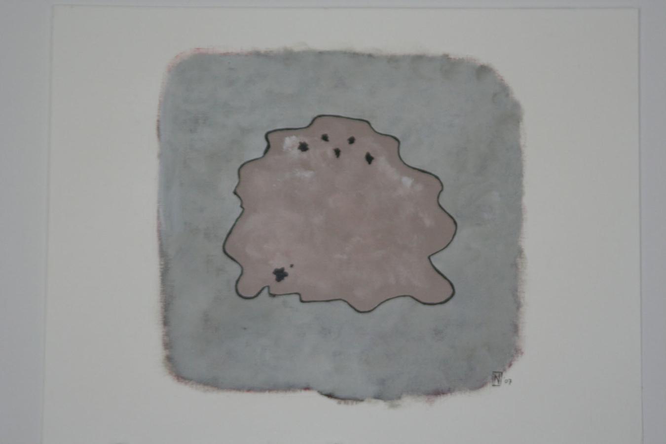 Trace 2 07 Acryl op linnenpapier 53x43cm